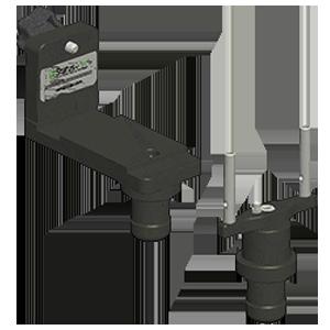 Adapter zur Messung der Parallelität von 2 Flanschen, Laservermessung, Flanschparallelität