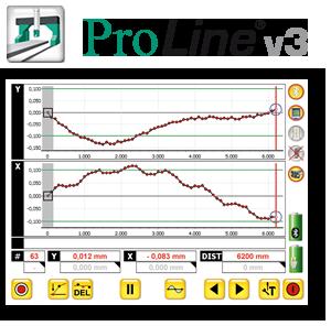 Software zur Linearitätsmessung, Laser, Ebenheitsvermessung, Protokokollierung, PC
